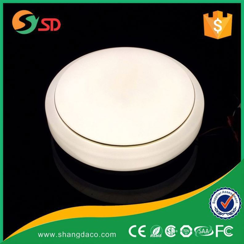 White glass ceiling lighting bright round surface mount round led ceiling light fixture
