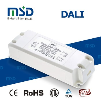 DALI dimmable led driver 50W Constant Voltage led power 12V/24V supply for led strips with ce etl saa rohs listed