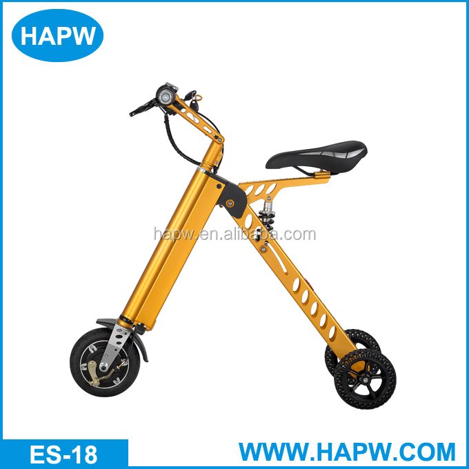 2017 China manufacturer Small Folding 3 wheel 8 inch scooter