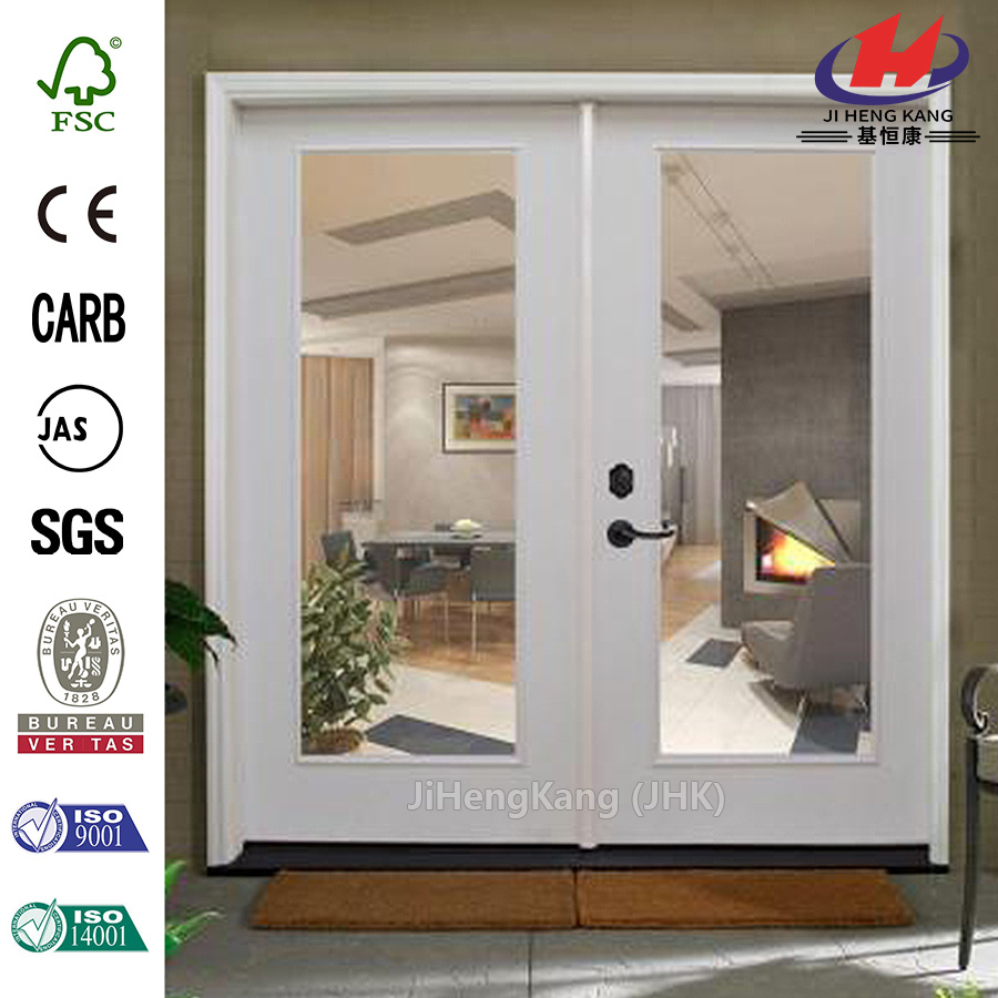 JHK-G01 Aluminum Shutters Hotel Automatic Panoramic Mirror Glass Interior Sliding Doors