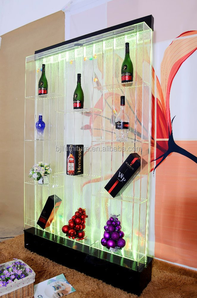 bubble bar wine cabinet with shelves acrylic wall grand room decors