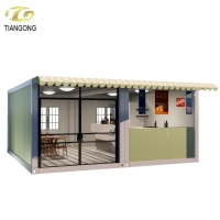 Container prefab restaurant Outdoor fast food kiosk mobile container coffee shop design