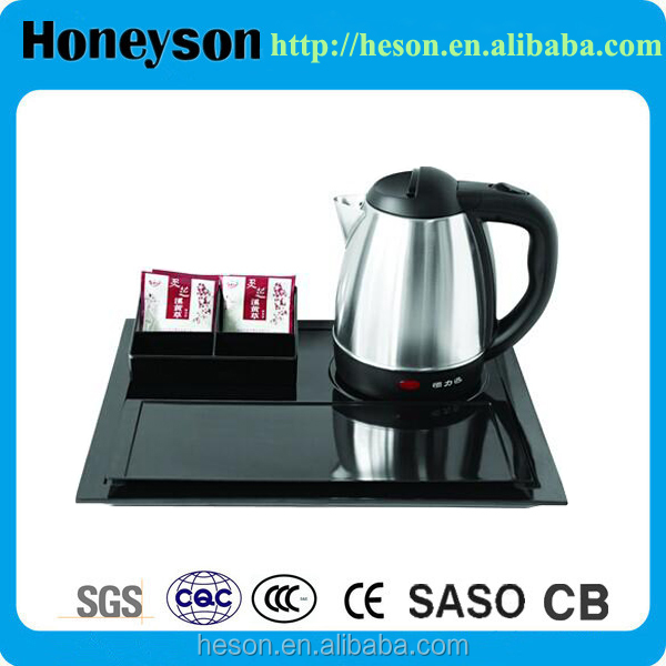 Honeyson top hotel chinese electric tea kettle with tray set
