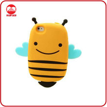2013 New Lovely Smile Bee Girl Cute Silicone Case for iphone 4