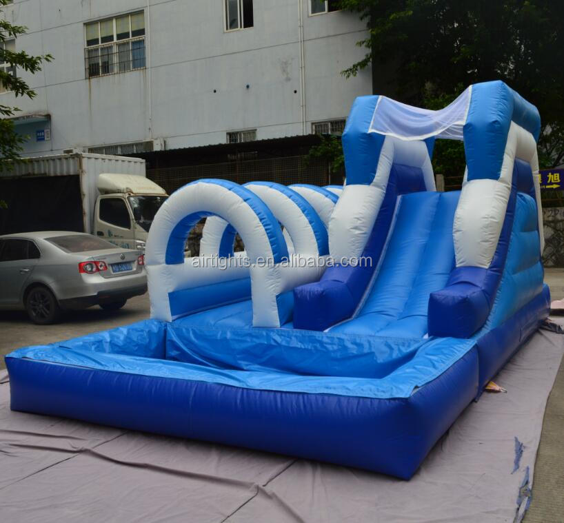 commercial grade attractive inflatable water slide with pool for hire company