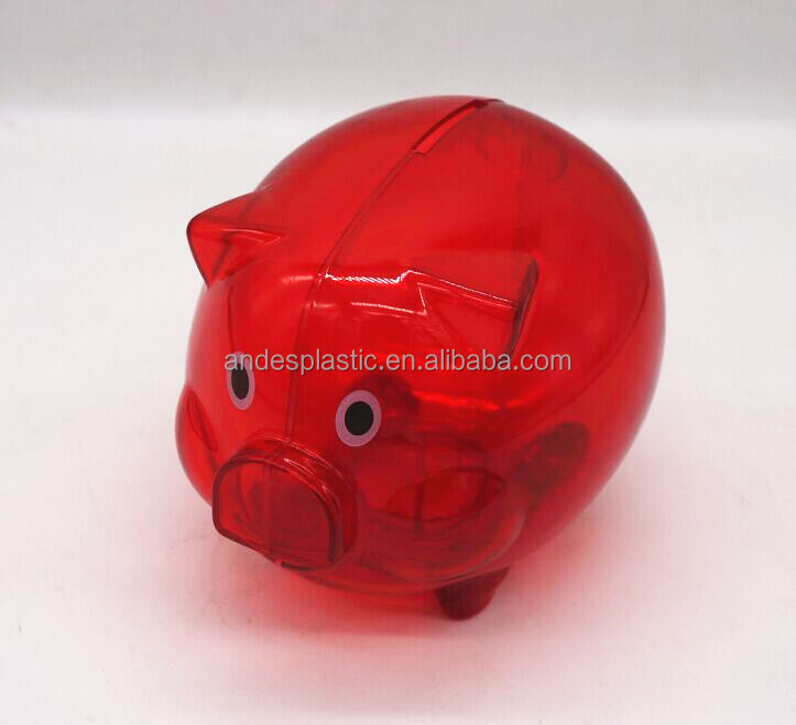 Pig plastic piggy bank,plastic coin bank,plastic money box