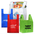 Promotion custom silk screen printing pp non woven t-shirt packaging bags