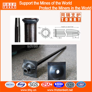 m46 mining ground support split set rock bolt friction anchor bolt with domed washer