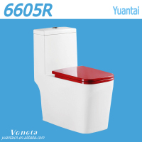 Western floor mounted one piece ceramic toilet seat colored
