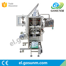 wholesale China import Self supporting pouch liquid packaging machine with automatic capping device