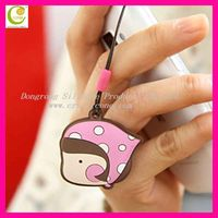 Good promotional gifts varioud romane cartoon design adhesive microfiber mobile phone screen cleaner