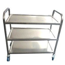 Hotel Stainless Steel Food Service Cart with Wheels