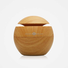 Ultrasonic LED Wooden Aromatherapy Air Freshener Humidifier