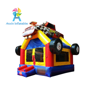 Race car desig inflatable playing bouncer jumping castle for kids