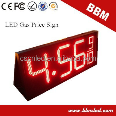 18 inch led price display for gas /oil station