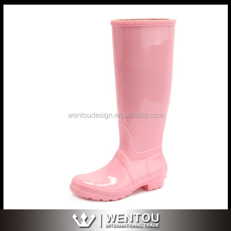 Women Flat Heels Knee-high PVC Rain Boots