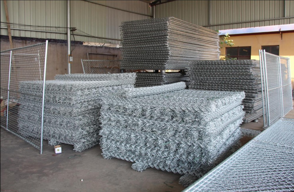 Xiangming galvanized chain link American standard galvanized temporary fence panels