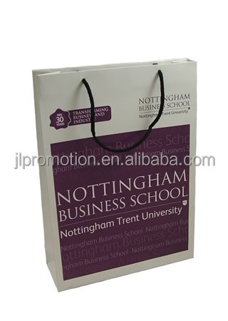 Paper shopping bag custom made for leather products packaging