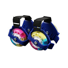Strap-on Heel Skates Connect to Athletic Shoes and Zoom Around 1pair Wheels Light Up, Skating Fun and Excercise on Flat Surface