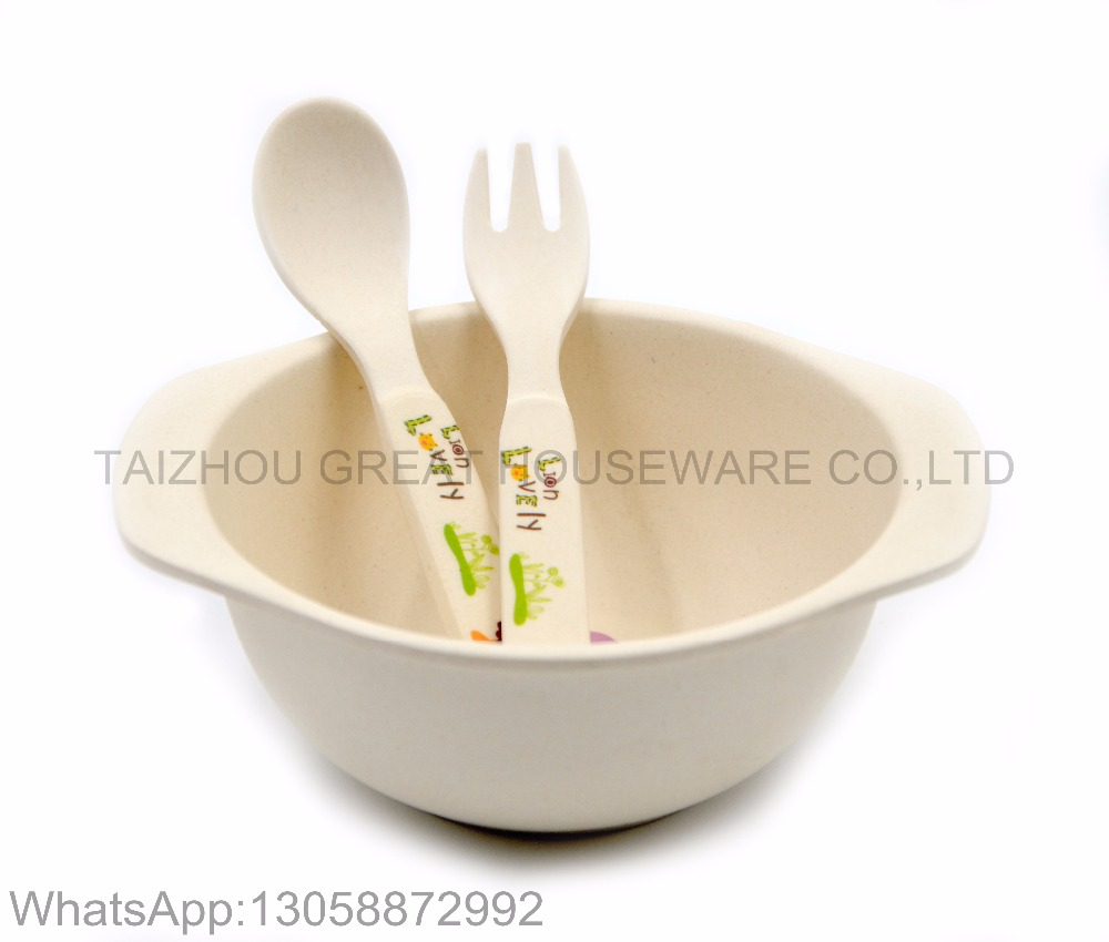 wholesale hotel restaurant bamboo Health spoon and fork