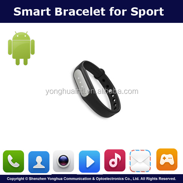 Hot Selling 2016 Factory Made Black Water Proof Smart Bracelet For Sport Monitor