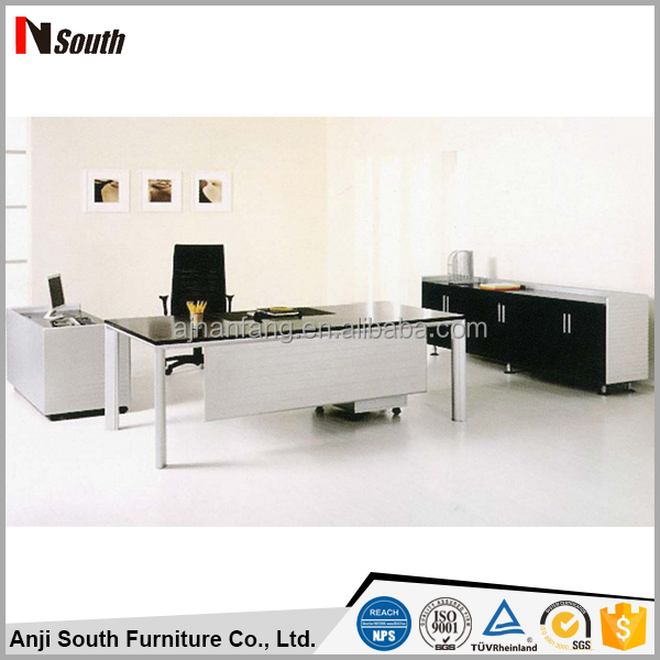 hot modern glass office executive desk wooden office table from china