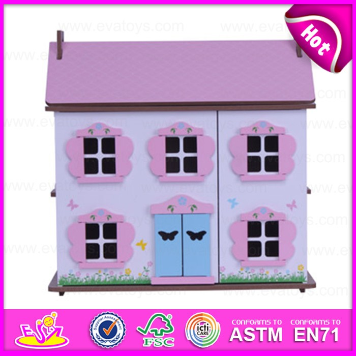 2016 new design baby wooden house,high quality kids wooden house,wholesale cheap children wooden house W06A131