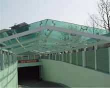 tempered glass railing carport glass roof 900mmx2500mm