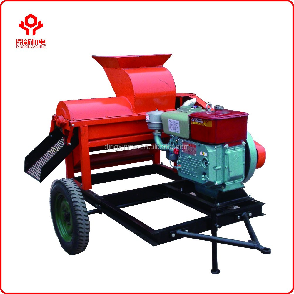 Easy movable and high quality maize huller machine / <strong>corn</strong> thresher