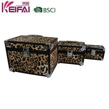 Three Size Animal Print Rigid Makeup Case With Mirror