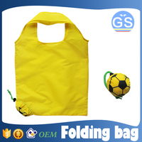 OEM factory direct suppy football foldable shopping bag 190T polyester cheap