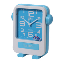 Cheap small fancy table plastic alarm clock for kids