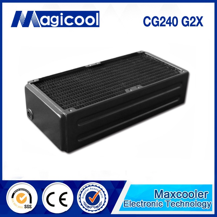 Top performance copper water cooling radiator with 65mm thickness and 240mm length /CG G2X model /Liquid cooling radiator