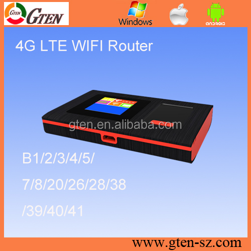 Portable Indoor Outdoor Pocket 3G 4G WiFi Router with Frequency Customizable