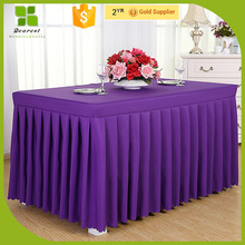 Factory price materials in table skirting OEM