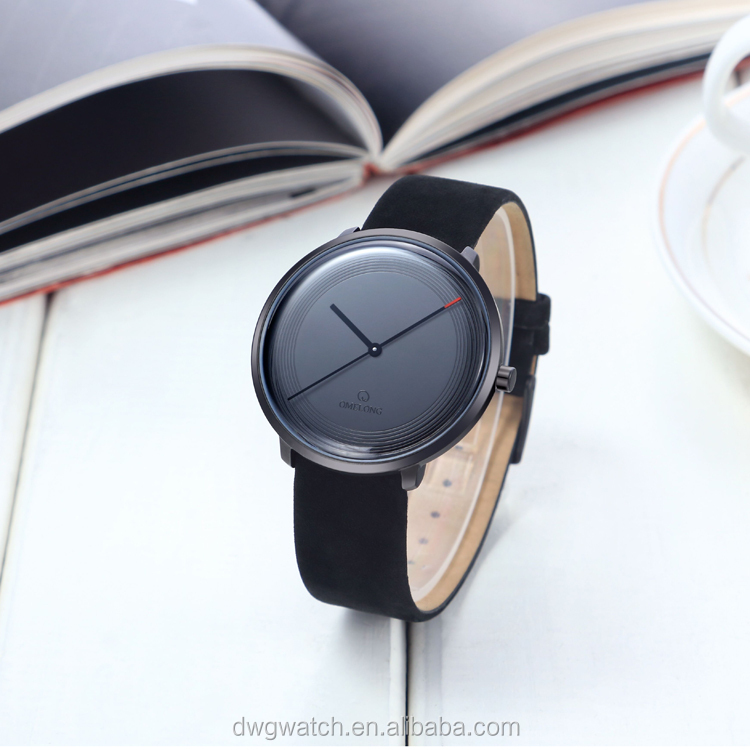 All black fashion lady watch with Japan quartz movement