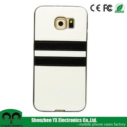 back PU leather one piece phone case for samsung galaxy s6
