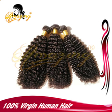kinky curl brazilian , two tone ombre colored hair weave bundles