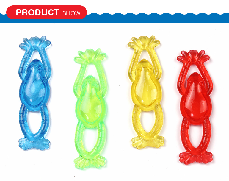 High quality assorted colors lovely stretchable flying sticky animals toys with vinyl material