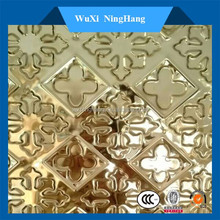 Top grade embossed stainless steel metal mirror plate for house decoration