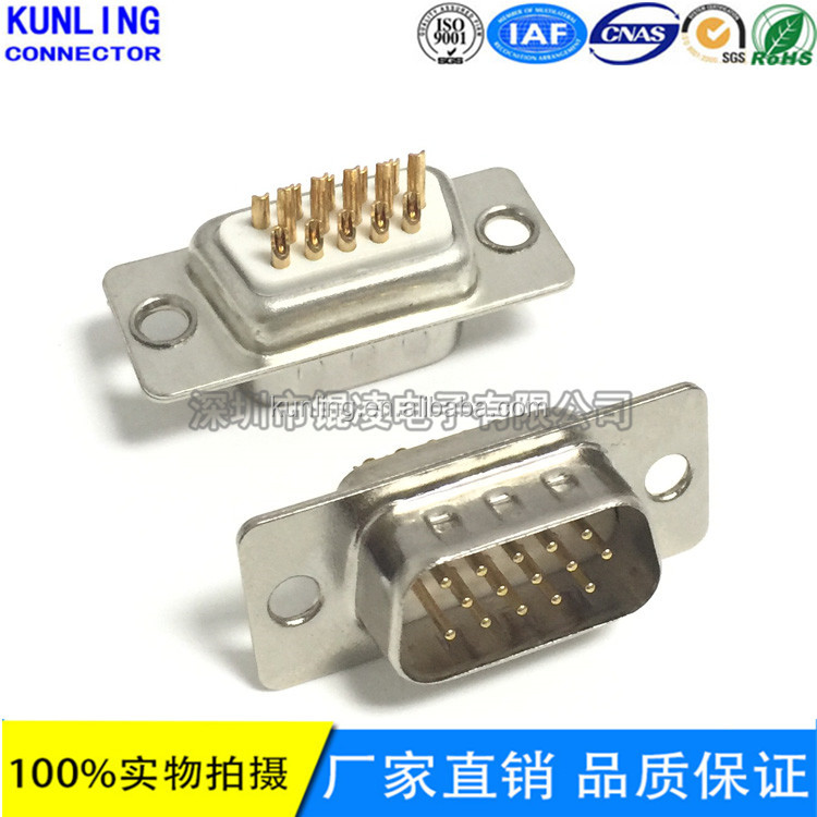HDB 15P MALE SOLDER 15 Pin D-SUB Connector