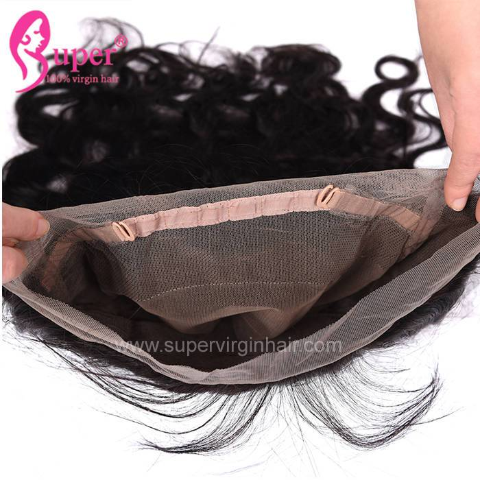 Body Wave 360 Frontal Closure Lace Front With Baby Brazilian Hair Extensions Human 16 And 18 Inch