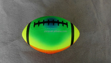 "8.5"" Rainbow color rugby ball"