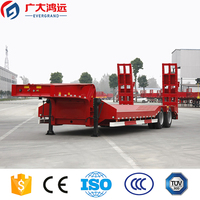 factory cheap price 40 ton 2 axle lowbed semi trailer for sale