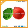 wholesale eco-friendly universal camping folding silicone dog bowl