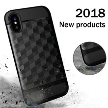 Newest stytle mobile phone accessories, diamond line tpu pc combo phone case for iphone X case