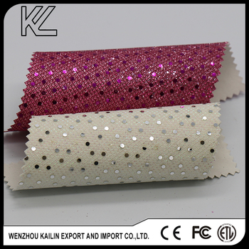 GL070236 chunky glitter pu with shinning design for shoe upper Pattern Design Material pu leather