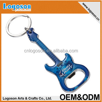 Hot selling custom logo mini guitar shape metal bottle opener