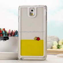 Smart fish liquid case back cover for Galaxy Note 3,Creative hard case for Samsung N9000