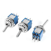 SMTS-202 AC 125V 3A 6 Pin DPDT On/On 2 Position Sub-Mini Toggle Switch